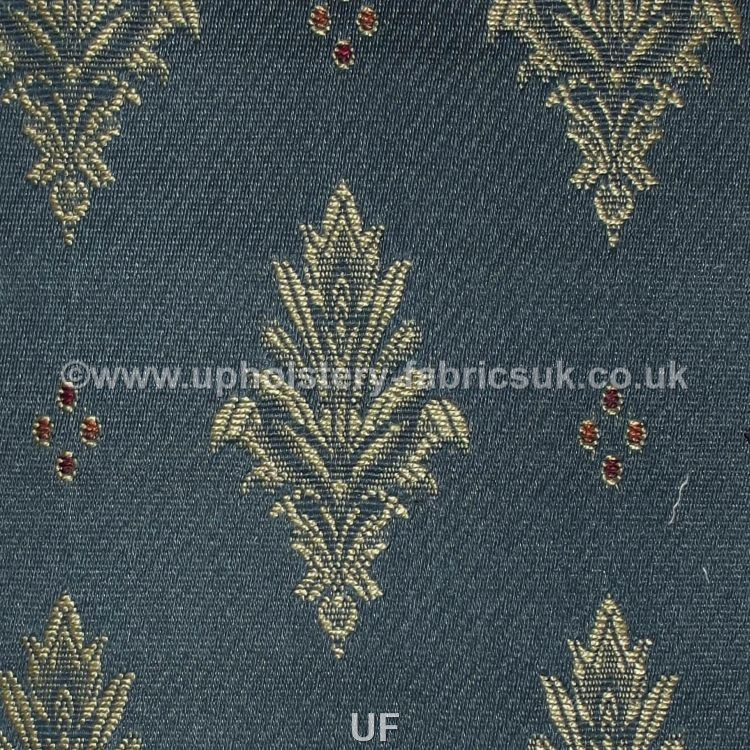 Ross Fabrics Faremont Sr12214 Blue Upholstery Fabrics Uk