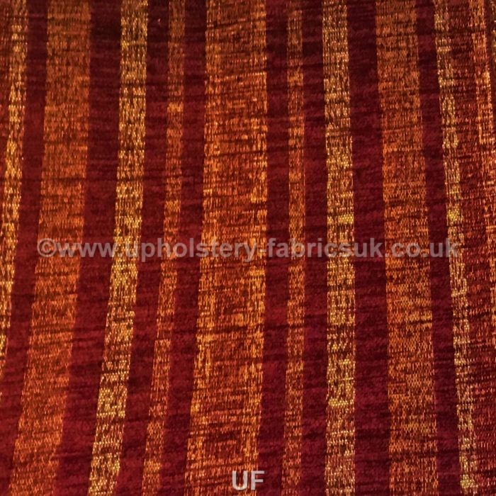 Ross Fabrics Brunswick Narrow Stripe Wine Sr13432
